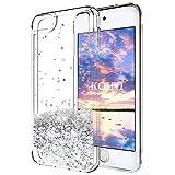 KOUYI iPod Touch 6 Hülle Glitzer, Luxus Fließen Flüssig Glitzer 3D Bling Dynamisch Silikon Weich Flexible TPU Kreativ Shiny Glitter Cover Beschützer für Apple iPod Touch 6 (Silber)