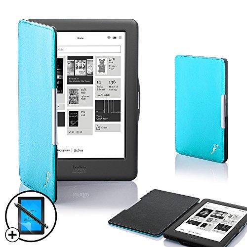 Forefront Cases® Neue Lederetuis Shell Hülle Tasche Case Cover für das KOBO GLO HD eBook – Mit vollständigem Schutz für Ihr Gerät mit aufwachen und Auto-Sleep-Funktion 3 Jahre Forefront Cases® Gewährleistung - inkl. Eingabestift und Displayschutz