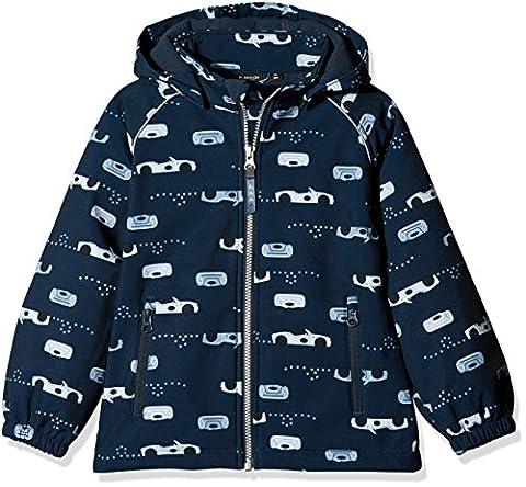 NAME IT Baby-Jungen Jacke Nitalfa Softshell Jacket Car MZ FO, Mehrfarbig (Vintage Indigo), 92 (Jacke Cars)