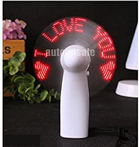 VALENTINE DAY GIFT, I LOVE YOU SELF PROGRAMMBLE, BATTERY OPERATED LED FAN
