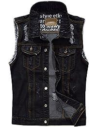 wholesale dealer e0e48 579b1 Amazon.it: Gilet Jeans Nero: Abbigliamento