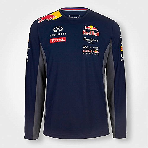 Pepe Red Bull Racing Collection - T-shirt - Manches longues Homme - Bleu - X-Large
