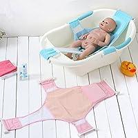 Recién nacido asiento baño del bebé Stillcool accesorios de baño de soporte del asiento baño de ducha del bebé recién nacido del bebé Baño de seguridad (rosa) (Azul)