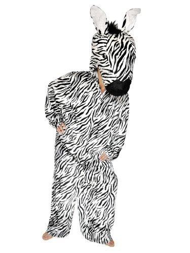 SU18 M/L Zebra Kostüm Zebrakostüm Zebras Kostüme Fasching (Safari Kostüm Lustige Ideen)