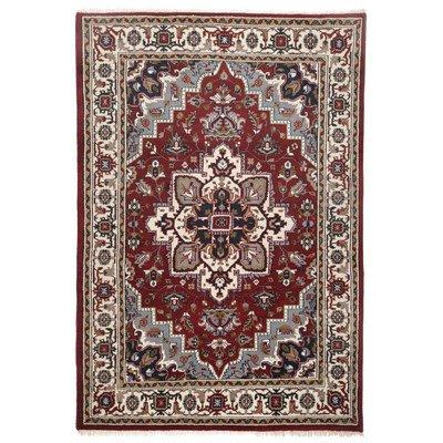 Handgefertigter Teppich Imperial Heriz in Rot Teppichgröße: 90 x 160 cm