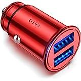 DIVI Cargador de Coche con Doble USB Puerto Cargador Móvil 5V/4.8A/24W, Adaptador Automóvil con Fast Charging Mini Small Size