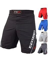 """XXR Maximus UFC - Pantalón corto para deportes de lucha gris gris Talla:Medium ( 32-34"""" )"""