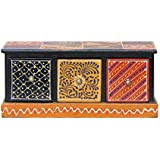 APKAMART Handicraft Jewelry Box - 5 Inch - Decorative Box Cum Utility Box For Table Decor, Home Decor, Desk Organizing And Gifts - B07J9PTRV5