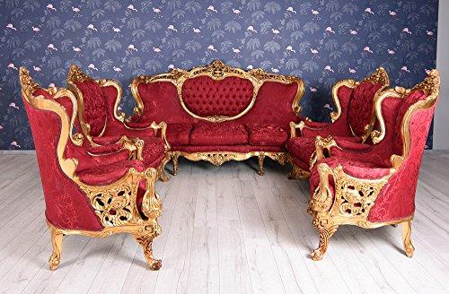 Salongarnitur Barock Sitzgruppe Antik Sofa 4 Sessel Sitzgarnitur 1930 Einzelstück Palazzo Exklusiv