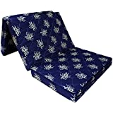 "Story@Home Three Fold Single Size Foldable Foam Mattress (Blue, 72"" X 35"" X 4"")"