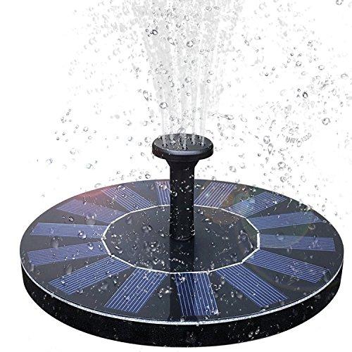 Baonuor Solar Springbrunnen, Solar Teichpumpe mit 6 Effekte Solar Wasserpumpe Solar schwimmender Fontäne Pumpe für Gartenteich Oder Springbrunnen Vogel-Bad Fisch-Behälter
