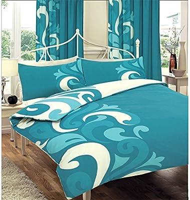 Juego de funda nórdica y funda de almohada, de algodón, diseño moderno y contemporáneo