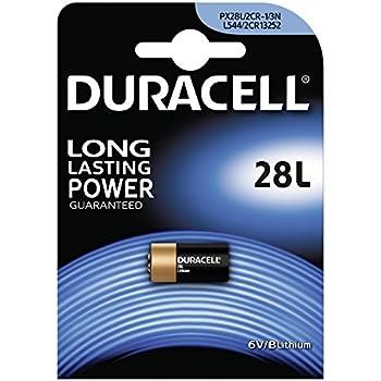 Duracell 2 CR11108 batería de Litio (V28PXL) 2 CR DE 1/3 N, 28L px28l L544, 6 V