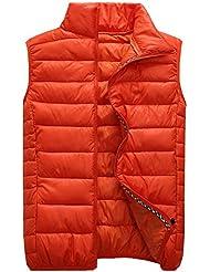 Panegy Vest Chaleco Exterior Acolchado Chaqueta Moda Casual Tipo Ligero Fino para Hombre Mujer Otoño Invierno