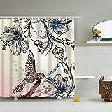saknn-da Duschvorhang Waschbar Feder Druckgewebe Polyester Duschvorhang Mode Vorhänge für Bad Wasserdichte Heimtextilien 2018 Vorhänge