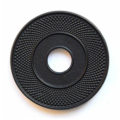 Salvamanteles de hierro fundido para tetera negro Hobnail–5,3...