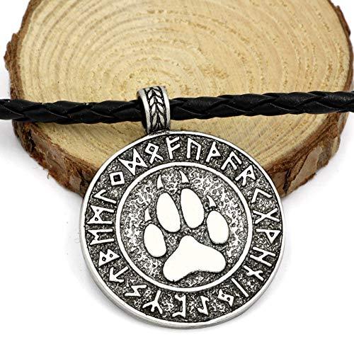NICEWL Odin Viking Amulett-Nordic Bear Klaue Anhänger Halskette-Celtic Pagan Schmuck, Männer Charme Mythologie Rune Talisman, Weihnachten Hochzeit Geburtstagsgeschenk