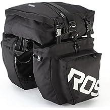 fontic impermeable bicicleta cola alforja para bicicleta alforja asiento trasero bolso de mano fácil de limpiar accesorio de tronco para uso en exteriores/poliéster, Black Type 2