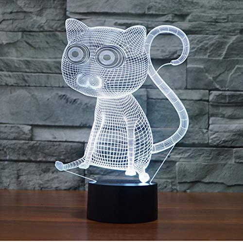 Nachtlicht,Big Eye Cat 3D Licht Neuheit Elektronische Produkte Kreative Usb Schreibtisch Led Nachtlicht Kinderzimmer Usb Led Kinder Lampe