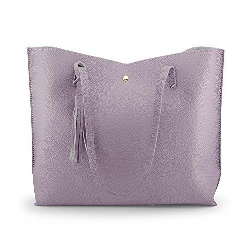 OCT17 Damen Einkaufstasche - Quasten Kunstleder Schulter handtaschen, modehandtaschen Satchel Messenger Bags einheitsgröße hot pink (Kalk Für Erwachsene Kostüm)