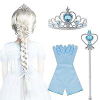 ------------ ♚ Vicloon Princess Dress Up Accessori 4 pezzi ♚ ------------ ♥ Questo set completa perfettamente qualsiasi costume da Regina del costume Ice / Snow Princess. Ornamenti luminosi aggiungono fascino come la fiaba ♥ La parrucca per l...