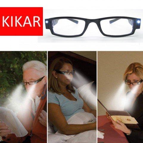 kikar Lesebrille mit LED-Licht mit stabiler Stilvoller Hülle, verbessert Ihre Sicht in der Dunkelheit. erhältlich in Dioptrien-Stärken + 1.0, + 1.5, + 2.0, + 2.5, + 3.0 (Bücher In Filme Gemacht)