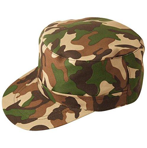 fitTek Army Kappe Kappen Militär Farbe Armycap (Spielzeug Soldat Uk Kostüm)