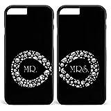 Unendlich Hochzeit Mr&Mrs Infinity 2x Hülle * Apple iPhone 5 6 7 Galaxy S5 S6 S7, Handymodell:Apple iPhone 7, Farbe & Namen:Schwarze Hülle