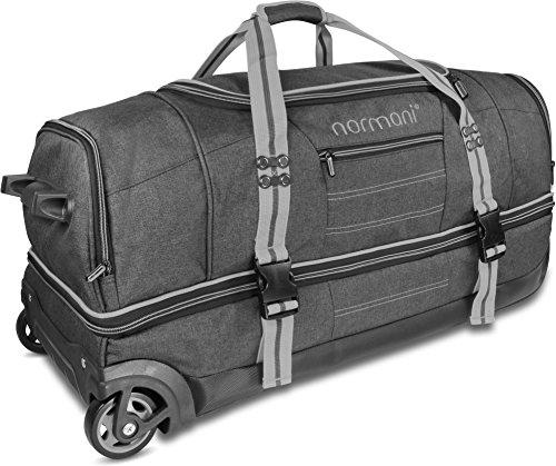 normani Reisetasche mit Rollen und großem Stauraum - mit Trolley-Funktion Farbe Grau Größe 90 Liter