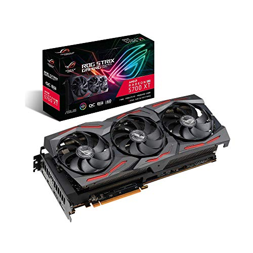 Asus ROG Strix Radeon RX 5700 XT OC Edition 8GB GDDR6, Ventole AxiAltech, 0dB, Dual BIOS, Tecnologia Auto-Extreme, Super Alloy Power II, MaxContact, Backplate in Metallo