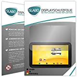 Slabo 2 x Displayschutzfolie Trekstor Volks-Tablet 3G (2.Generation) Schutzfolie No Reflexion|Keine Reflektion MATT - Entspiegelnd MADE IN GERMANY