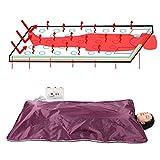 Semme Couverture Infrarouge de Vapeur de Digital, Corps chauffé de Corps de Sauna de Spa Amincissant l'outil pour Personnel Anti-vieillissement soulagent la Fatigue Physique(Vin Rouge)