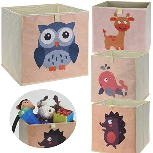 LS-LebenStil Kinder Aufbewahrungsbox Fisch Spielzeugkiste faltbar 32x32x30 Kiste Schublade Spielzeug Aufbewahrungswürfel Organizer