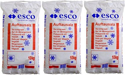 Esco Streusalz Auftausalz Tausalz Steinsalz PVC Sack - Langzeitwirkung (30 kg)
