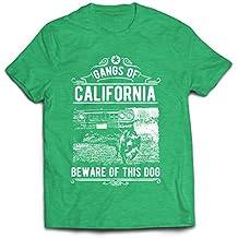 lepni.me Männer T-Shirt Die Gangs von Kalifornien - Vorsicht vor Diesem Hund! Street Gangster Kleidung - Geld, Macht, Respekt!