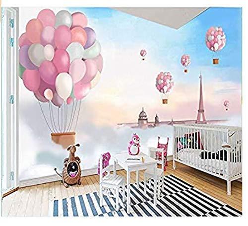 Wh-Porp 3D Tapete 3D Cartoon Pink Ballon Wandaufkleber Für Living Zimmer Tv Hintergrundbild 3D Kinder Zimmer Schlafzimmer Wandbild Papier Decor-290X246CM