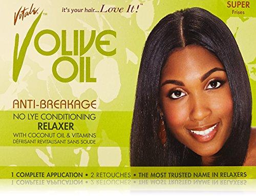 Vitale Olive Oil Sensitive Relaxer Kit Super - Relaxer Kit Super