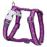 Trilus DH-PP-PU-LG Nylon Hundegeschirr, Pawprints, purple, L