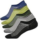 Ueither Calzini Uomo in cotone Taglio Basso Invisibili Casuale alla Caviglia Antiscivolo (Taglia di scarpe:38-43, Colore 5 (5 Coppie))