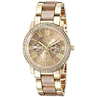 XOXO Womens Quartz Watch, Analog Display and Gold Plated Strap XO5873