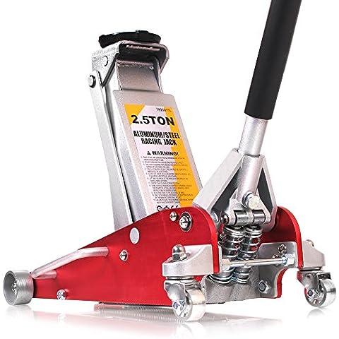 XXR Tools 2,5tonnellate a basso profilo in alluminio 4x 4idraulico Race Racing Drag Trolley Jack