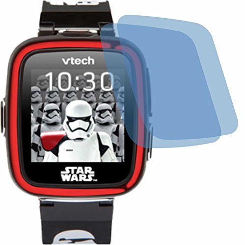 4ProTec 2X Crystal Clear klar Schutzfolie für Vtech Kidizoom Starwars Stormtrooper Watch Displayschutzfolie Bildschirmschutzfolie Schutzhülle Displayschutz Displayfolie Folie (Star Watch Wars)