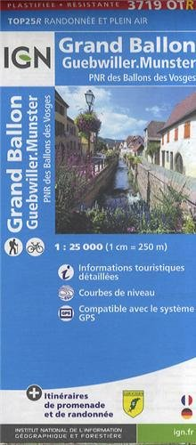 Grand-Ballon / Munster gps wp : IGN.P.3719OTR (Ign Map) par Institut Geographique National