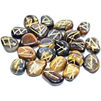Tumble - Tiger Eye Set OF 25 Rune Stones Set With Engraved Elder Futhark Alphabet Crystal Meditation Divination preisvergleich bei billige-tabletten.eu
