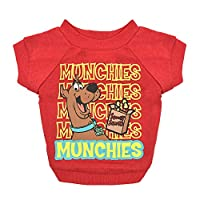"""Warner Brothers Scooby Doo""""Munchies"""" Dog T Shirt in Red, Size Medium 