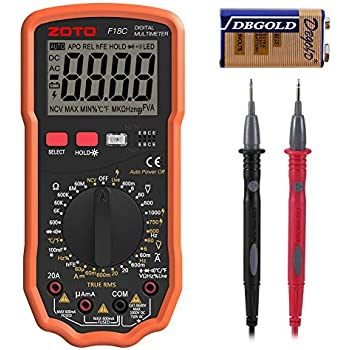 Diode Duty Cycle Tester with LCD Backlight Digital Multimeters Multi Tester TRMS 6000 Counts Voltmeter Ammeter Non Contact AC//DC Voltage and Current Capacitance BEVA Multimeter Frequency Triode