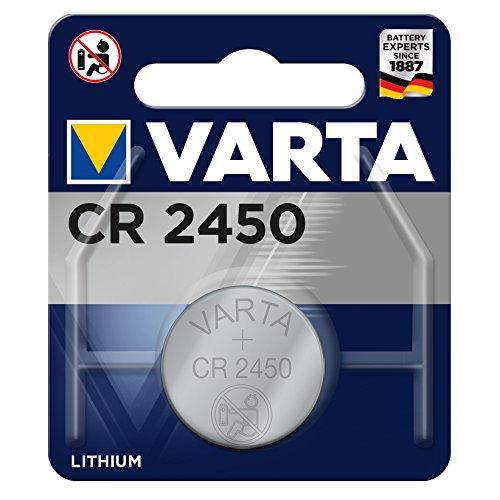 Varta 13501450 Lithium Knopfzelle (CR 2450, 1er Pack)