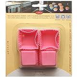 12 Stück Mini Muffin Kuchenformen eckig Silikon
