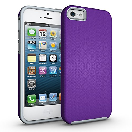 Slynmax Coque iPhone 5 5S Se Violet Coque iPhone 5S Luxe Mode Housse Slim Bumper Souple Silicone Etui Housse de Protection Flexible Soft Case Cas Couverture Anti Choc Ultra Mince Coque iPhone 5 5S Se