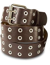 SCAMODA Cintura in pelle con borchie doppio, occhielli, vari colori, misure, larghezze